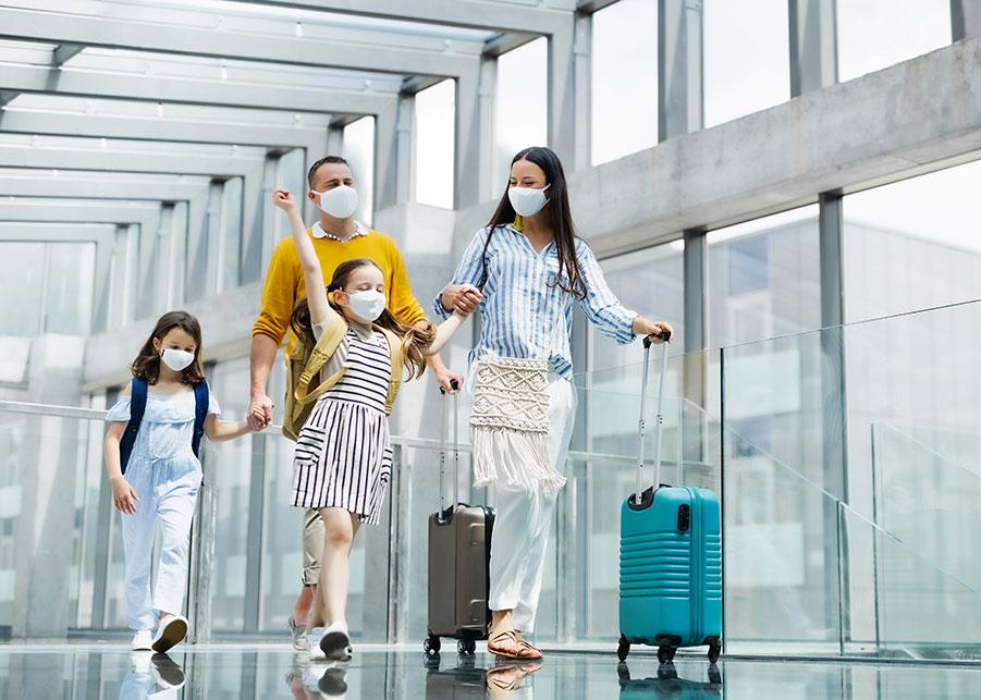 family travelling after getting fit to fly certificate in Chorlton, Manchester